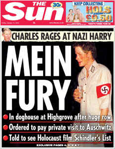Prince Harry With Swastika Armband Mein Fury